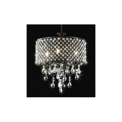 Mckamey Round 4-Light Crystal Chandelier