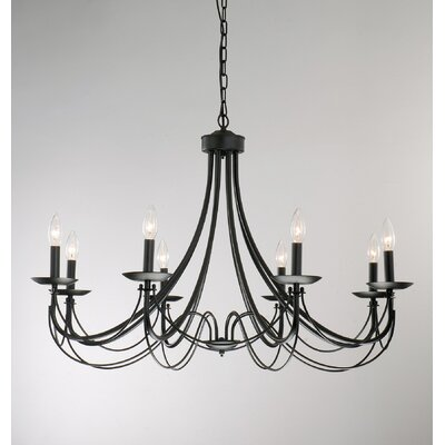 West Side Iron 8-Light Candle-Style Chandelier