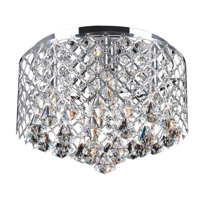 Roxana 4-Light Metal Shade Flush Mount
