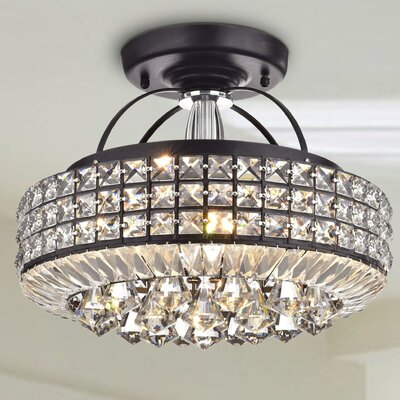 4-Light Semi Flush Mount