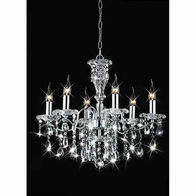 Mckey Indoor Candle 6-Light Candle-Style Chandelier