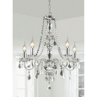5-Light LED Crystal Chandelier