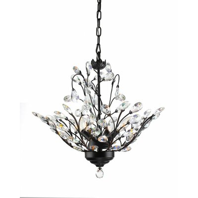 Wallenstein Leaves 4-Light LED Mini Chandelier