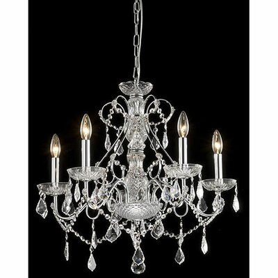 Mckillip 5-Light Crystal Chandelier