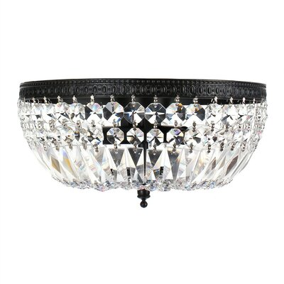 Jessica Basket 3-Light LED Flush Mount