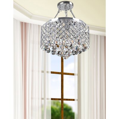 Mckim 4-Light Semi Flush Mount Fixture Finish: Chrome