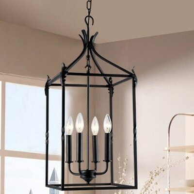 Beatriz Classic Iron 4-Light LED Foyer Pendant