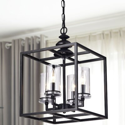 La Pedriza 4-Light LED Foyer Pendant with Glass Cylinders