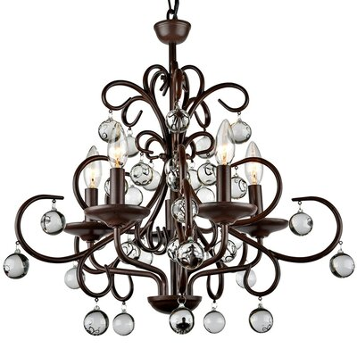 Wrought Iron 5-Light LED Mini Chandelier