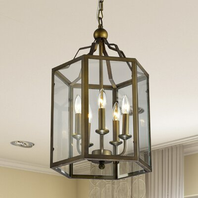 Franke Hexagon 5-Light Candle-Style Chandelier