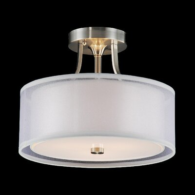 Mckinnis 3-Light Semi Flush Mount