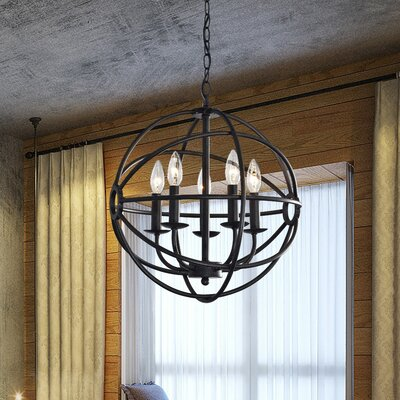 Portage 5-Light Globe Pendant