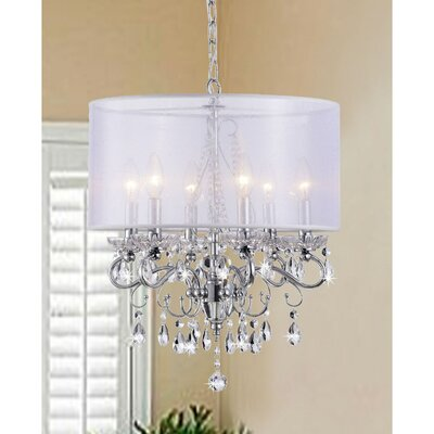 Allured 6-Light Drum Chandelier
