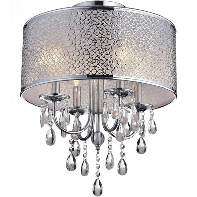 Amalia 4-Light Semi Flush Mount