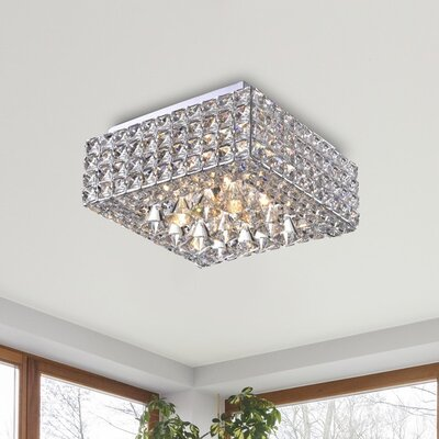 Darcella 4-Light Flush Mount Finish: Chrome
