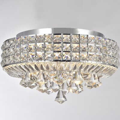 Madilynn 4-Light Flush Mount with Clear Crystals