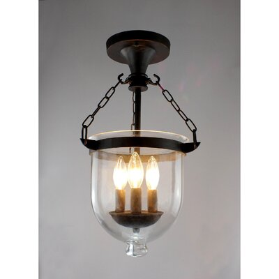 Arabella 3-Light Semi Flush Mount
