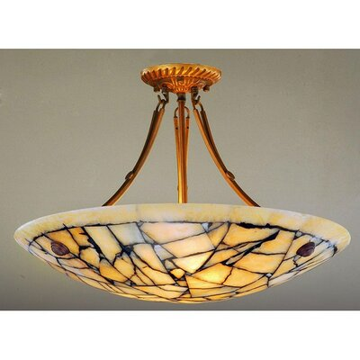 Alabaster 5-Light Semi Flush Mount