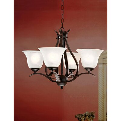 Monhollan 4-Light Shaded Chandelier