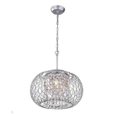 Yanira 3-Light Mini Pendant Finish: Silver