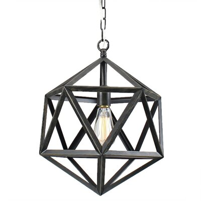 Multangular 1-Light Foyer Pendant