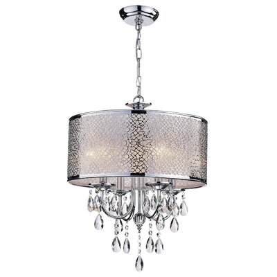 Mcmeans 4-Light Drum Chandelier