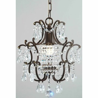 1-Light Crystal Foyer Pendant