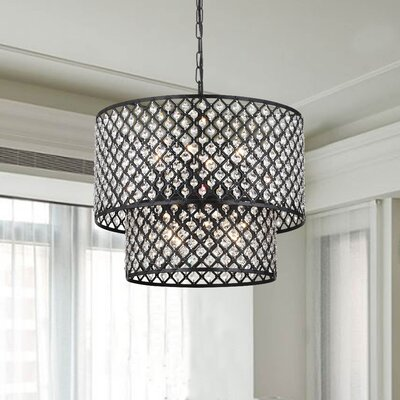 Westberg 8-Light Drum Pendant