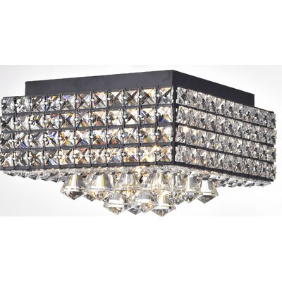 Darcella 4-Light Flush Mount Finish: Antique Black