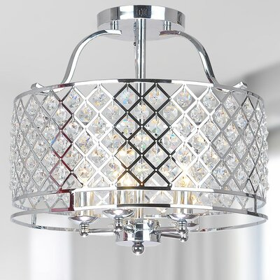 Mclemore 5-Light Flush Mount Finish: Chrome