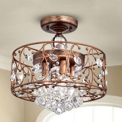Bowe 4-Lights Semi Flush Mount