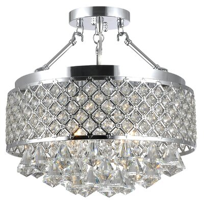 Mckelvy 4-Light Semi Flush Mount