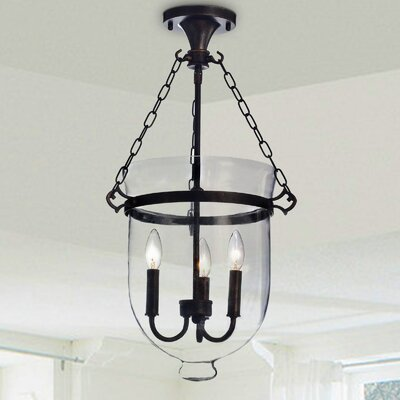 Vouni 3-Light Semi Flush Mount