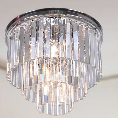 Justina 5-Light Flush Mount Finish: Chrome