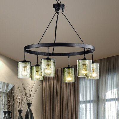 Petersburgh 6-Light Shaded Chandelier