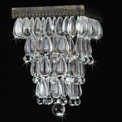 Lacasse Reverse Pyramid Crystal Flush Mount