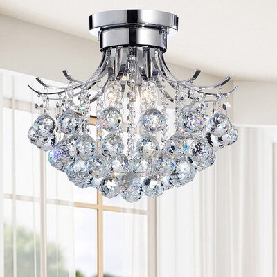 Mcmichael 3-Light Crystal Flush Mount