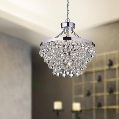 Mcmillen 5-light Crystal Mini Chandelier Finish: Chrome