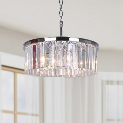 West Village 5-light Crystal Drum Chandelier