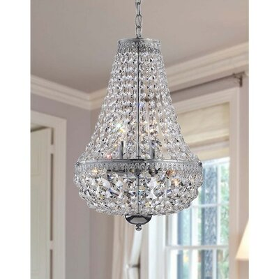 Symmetric 6-light Crystal Chandelier