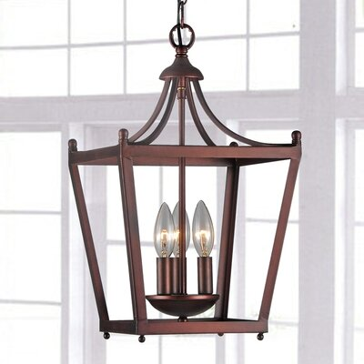 Bataan Iron Pagoda 3-Light Foyer Pendant