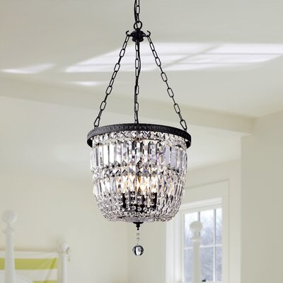 Hayden Bowl 3-Light Crystal Chandelier