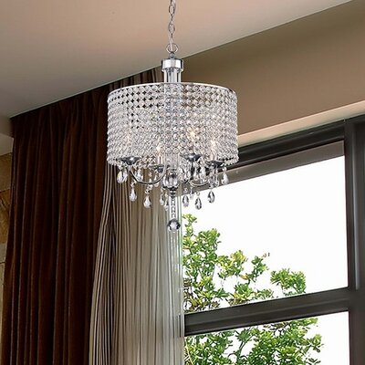 Oldman 4-Light Crystal Chandelier