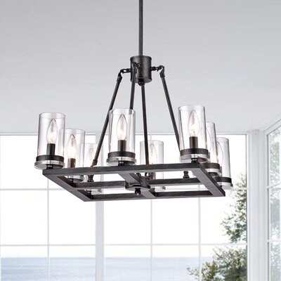 Sherron Modern 8-Light Kitchen Island Pendant