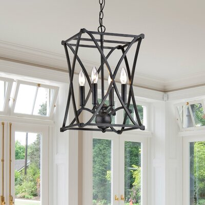 Galvan Iron 4-Light lED Foyer Pendant