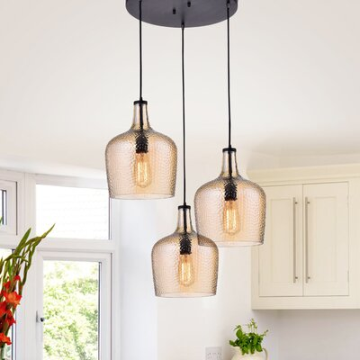 Psyche 3-Light Cluster Pendant Finish: Tawny