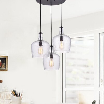 Psyche 3-Light Cluster Pendant Finish: Clear