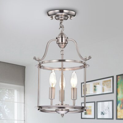 Foley 3-Light Semi Flush Mount