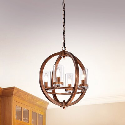 Roxie 4-Light Globe Pendant