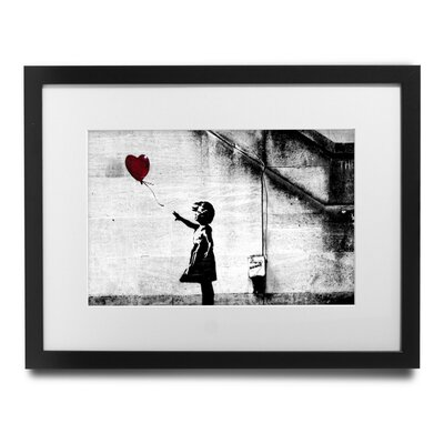 'Girl With Balloon' by Banksy Framed Graphic Art BSY1009-1517